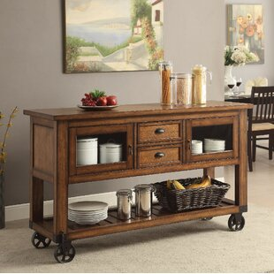 Whyalla Wooden Kitchen Cart by Loon Peak