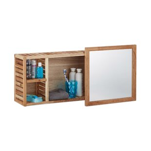 Dourdain 80cm X 30cm Mirror Cabinet By World Menagerie
