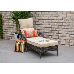 Bayou Breeze Aldusa Reclining Chaise Lounge with Cushion