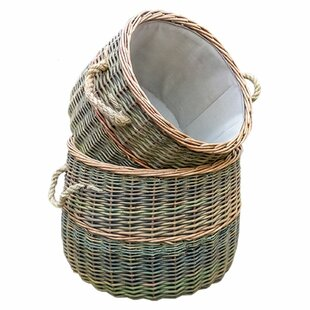 Hicksley 2 Piece Willow Log Carrier Set By August Grove