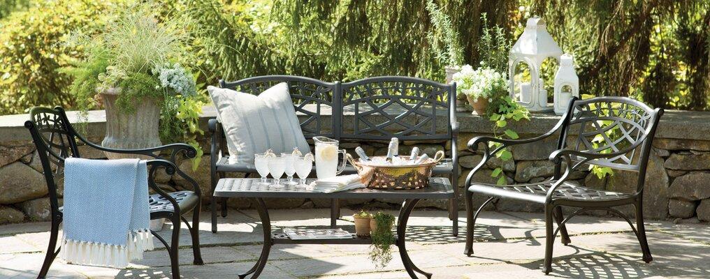 Farmhouse & Rustic Outdoor Sofas & Seating | Birch Lane