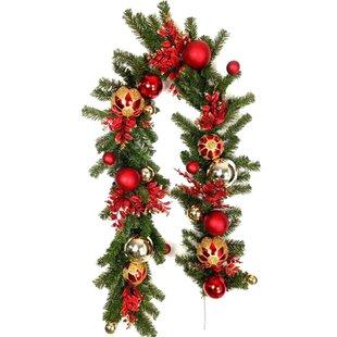Christmas Unlit Ornaments Ball Garland