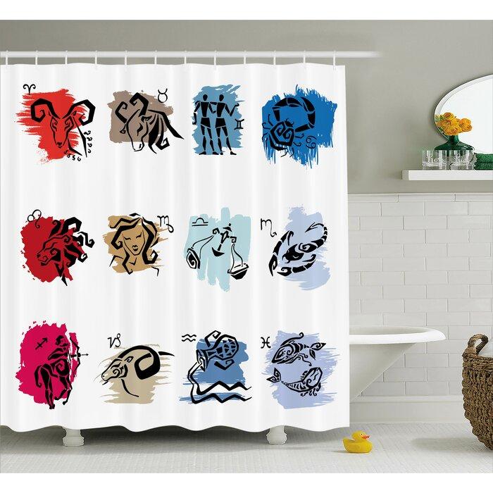 Alexi Zodiac Signs Art Shower Curtain