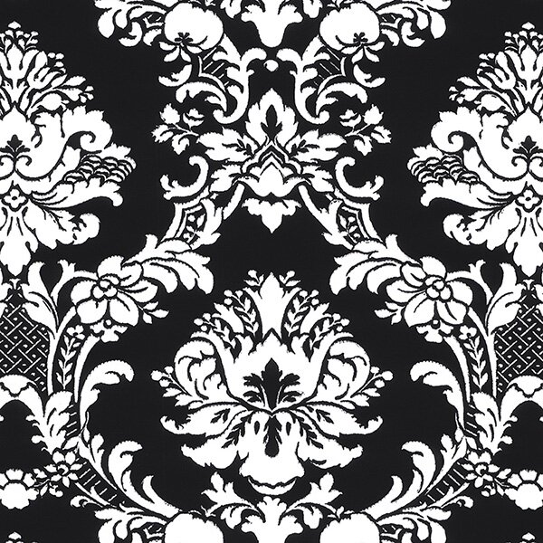 "Medders 33' L x 21"" W Damask Wallpaper Roll"