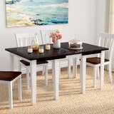 Tamiami Extendable Solid Wood Dining Table by Beachcrest Home
