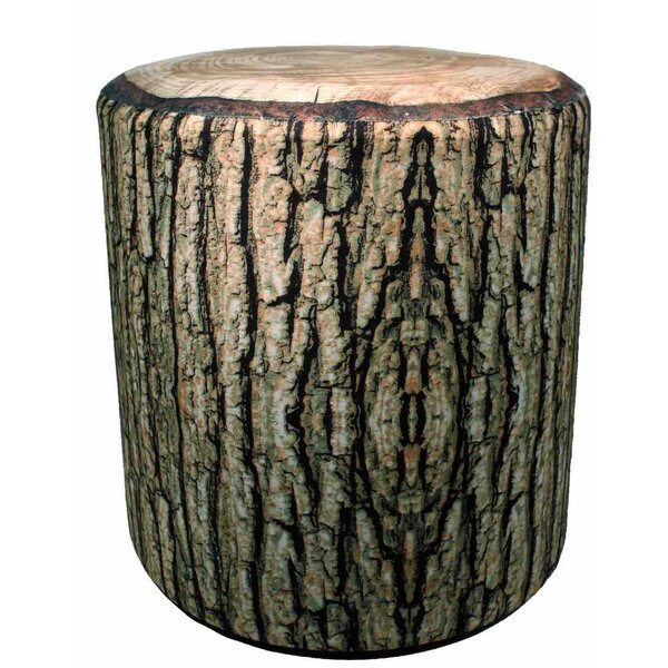 Handmade Wooden Square Tree Trunk Log Stool with Comfortable Cushion Seat