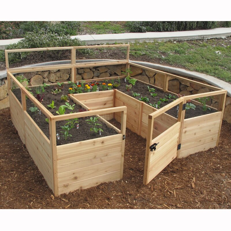 Delicieux 8 Ft X 8 Ft Western Red Cedar Raised Garden