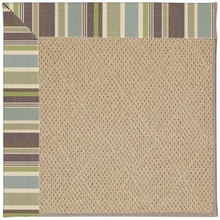 Lisle Machine Tufted Multi-colored/Beige Indoor/Outdoor Area Rug