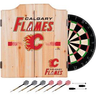 NHL Dartboard and Cabinet Set ByTrademark Global