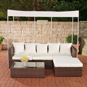 3-tlg. Gartengarnitur-Set Marsala mit Kissen von Caracella