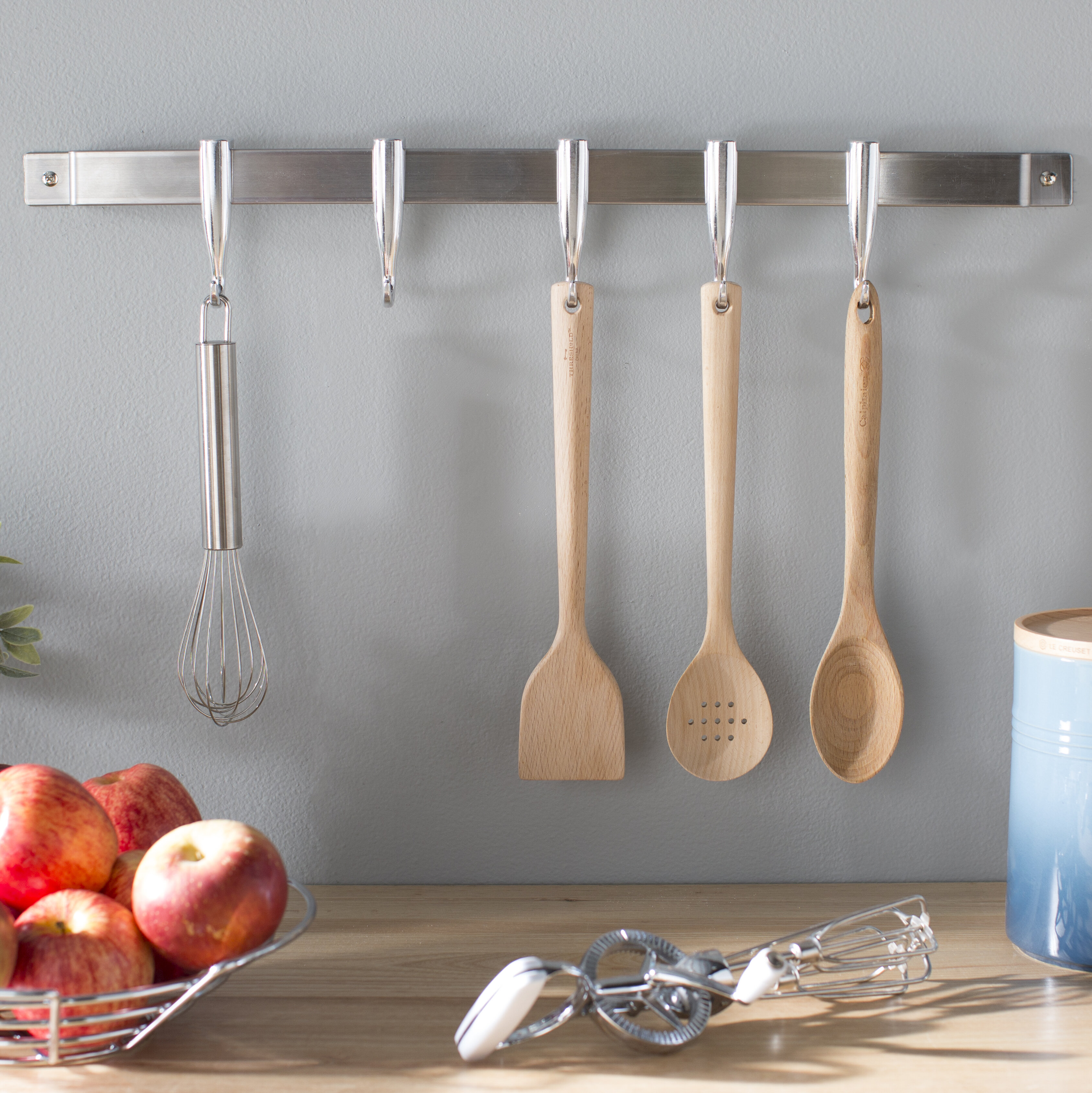 Concept Housewares Stainless Steel Wall Mounted Pot Rack Reviews
