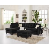 Burdett 104.5 Reversible Sectional with Ottoman by Winston Porter