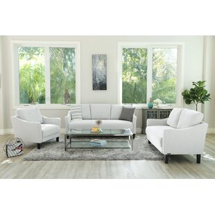 Buckwalter 3 Piece Living Room Set by Charlton Home