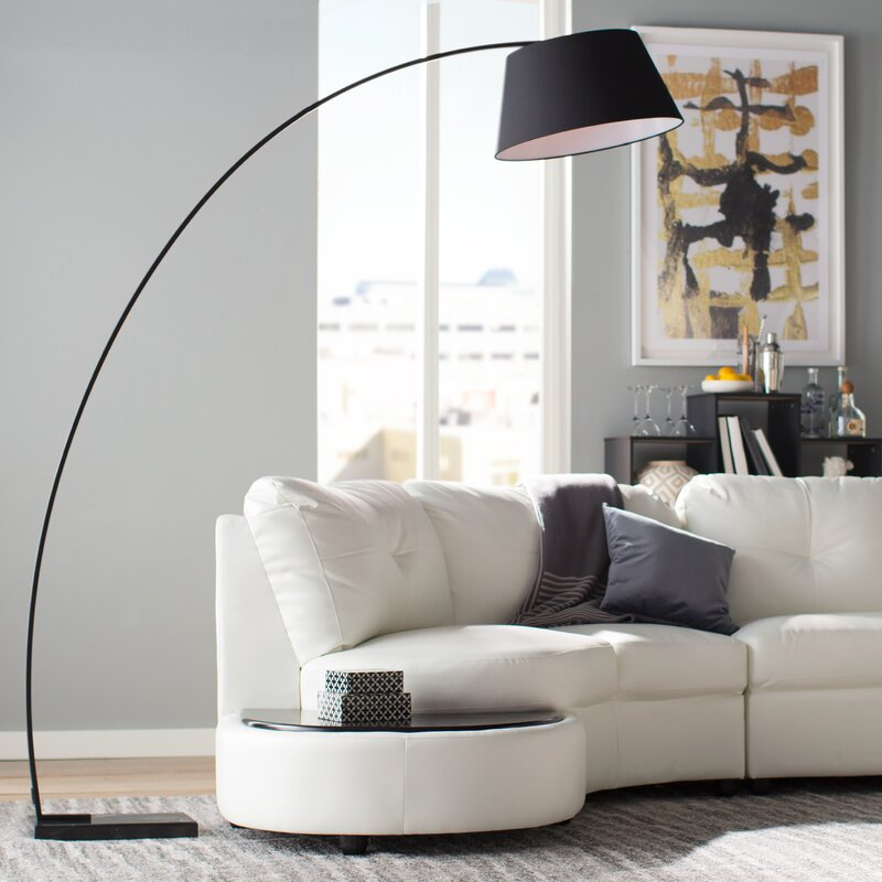 Blitar 77 arched floor lamp reviews allmodern blitar 77 arched floor lamp mozeypictures Choice Image