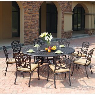 Astoria Grand Dolby Traditional 10 Piece Dining Set with Cushions