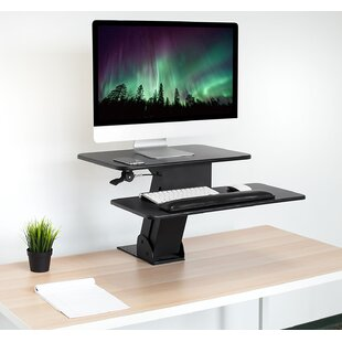 Kelch Ergonomic Height Adjustable Tabletop Standing Desk Converter With Clamp by Symple Stuff Reviews