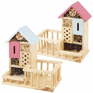 Dilsen 2 Piece Wood Freestanding Butterfly House Image