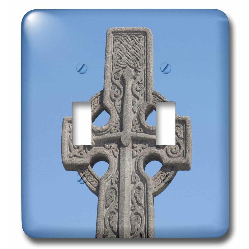 3drose Scotland Edinburgh Stone Celtic Cross 2 Gang Toggle Light Switch Wall Plate Wayfair