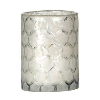 Bradburnhome Shagreen Glass Metal Hurricane Perigold