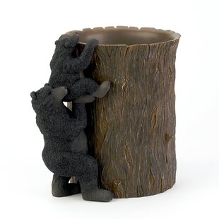 Avanti Linens Black Bear Lodge Waste Basket