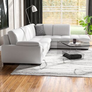Amira Leather Sectional by Orren Ellis Wonderful