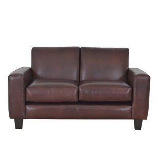 Columbia Leather Loveseat by Westland and..