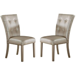 Vargas Upholstered Dining Chair Set of 2 by House of Hampton