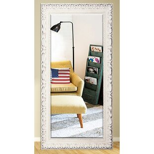 Brayden Studio Antique Wood Beveled Wall Mirror