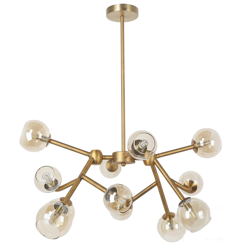 George Oliver Kody 12 Light Sputnik Modern Linear Chandelier Wayfair