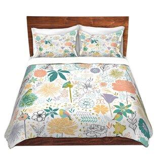 Harriet Bee Edwardo Metka Hiti Birds And Flowers Microfiber Duvet Covers