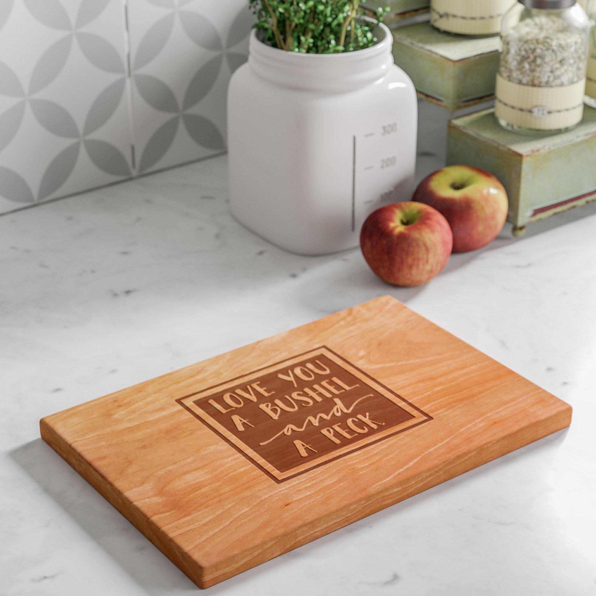 Laurel Foundry Modern Farmhouse Hiram Bushel And A Peck Artisan Cherry Wood Cutting Board Wayfair