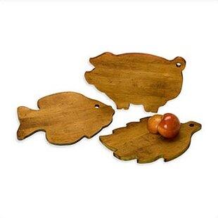 3-Piece Maple Wood Cutting Board Set