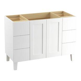 Poplin Tones 48 Vanity with Furniture Legs, 2 Doors and 6 Drawers, Split Top Drawers by Kohler