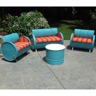 Tahoe 4 Piece Sunbrella Sofa Set with Cushions