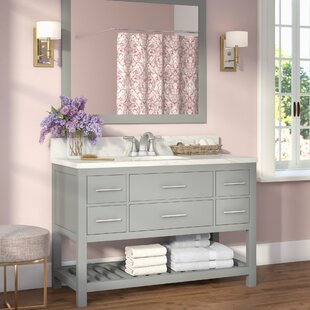 Rizer 48 Single Bathroom Vanity with Mirror by Willa Arlo Interiors