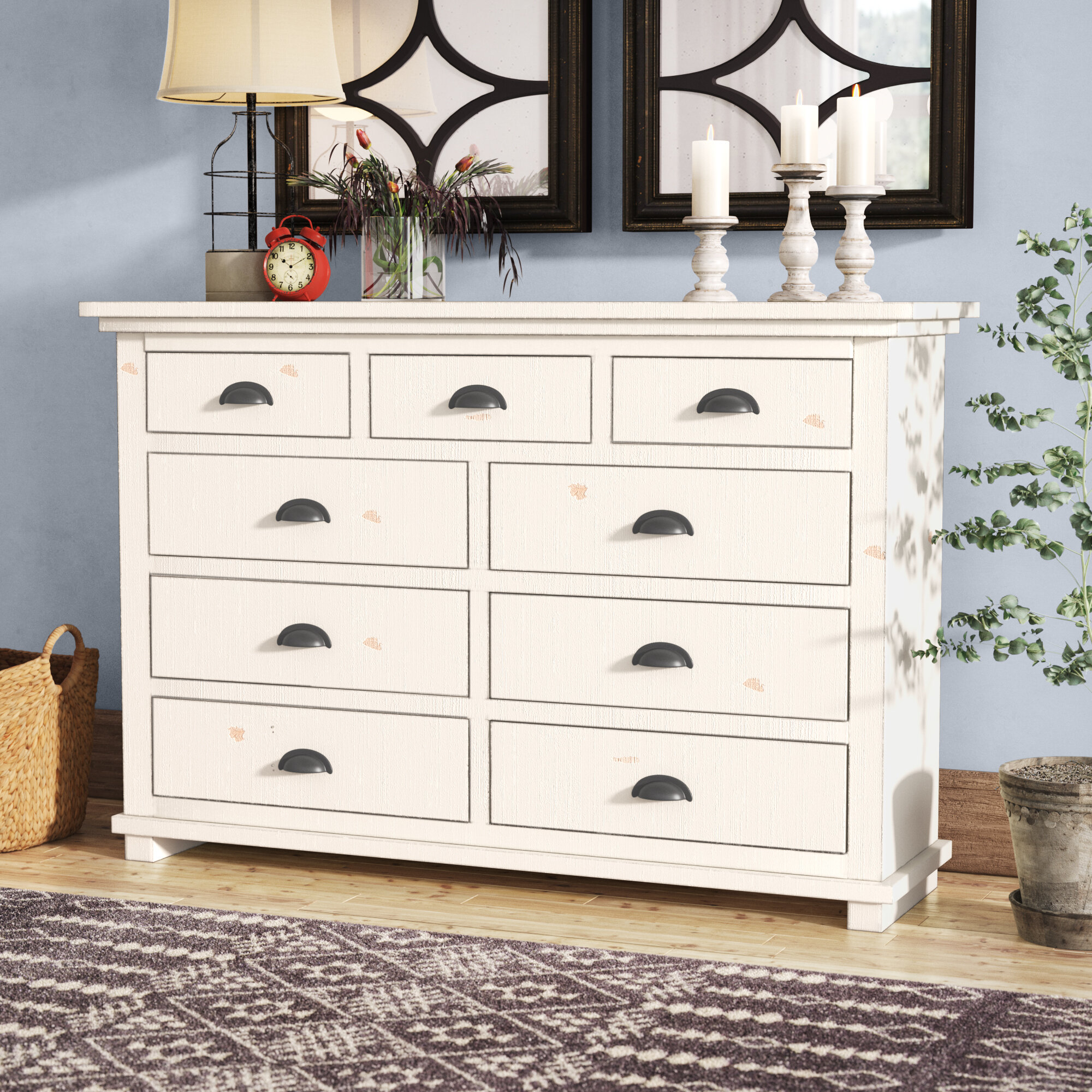Lark Manor Castagnier 12 Drawer Double Dresser & Reviews  Wayfair