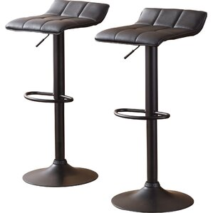 Yoder Adjustable Height Swivel Bar Stool (Set of 2) by Trent Austin Design
