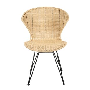 Meier Rattan Upholstered Dining Chair (Set of 2) Bayou Breeze