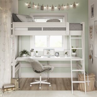 Alfred Twin Loft Bed with Desk