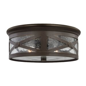 Burwood 2-Light Outdoor Flush Mount