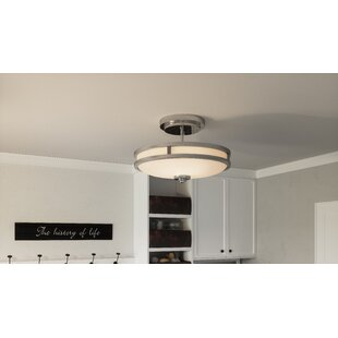 Gandara 3-Light Semi Flush Mount by Latitude Run