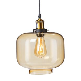 Gracie Oaks Clayborne 1-Light Drum Pendant