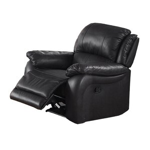 juan leather manual wall hugger recliner