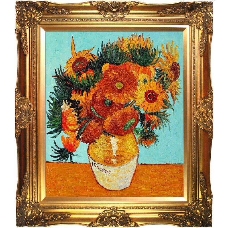 Tori Home Sunflower Collage By Vincent Van Gogh Framed Painting