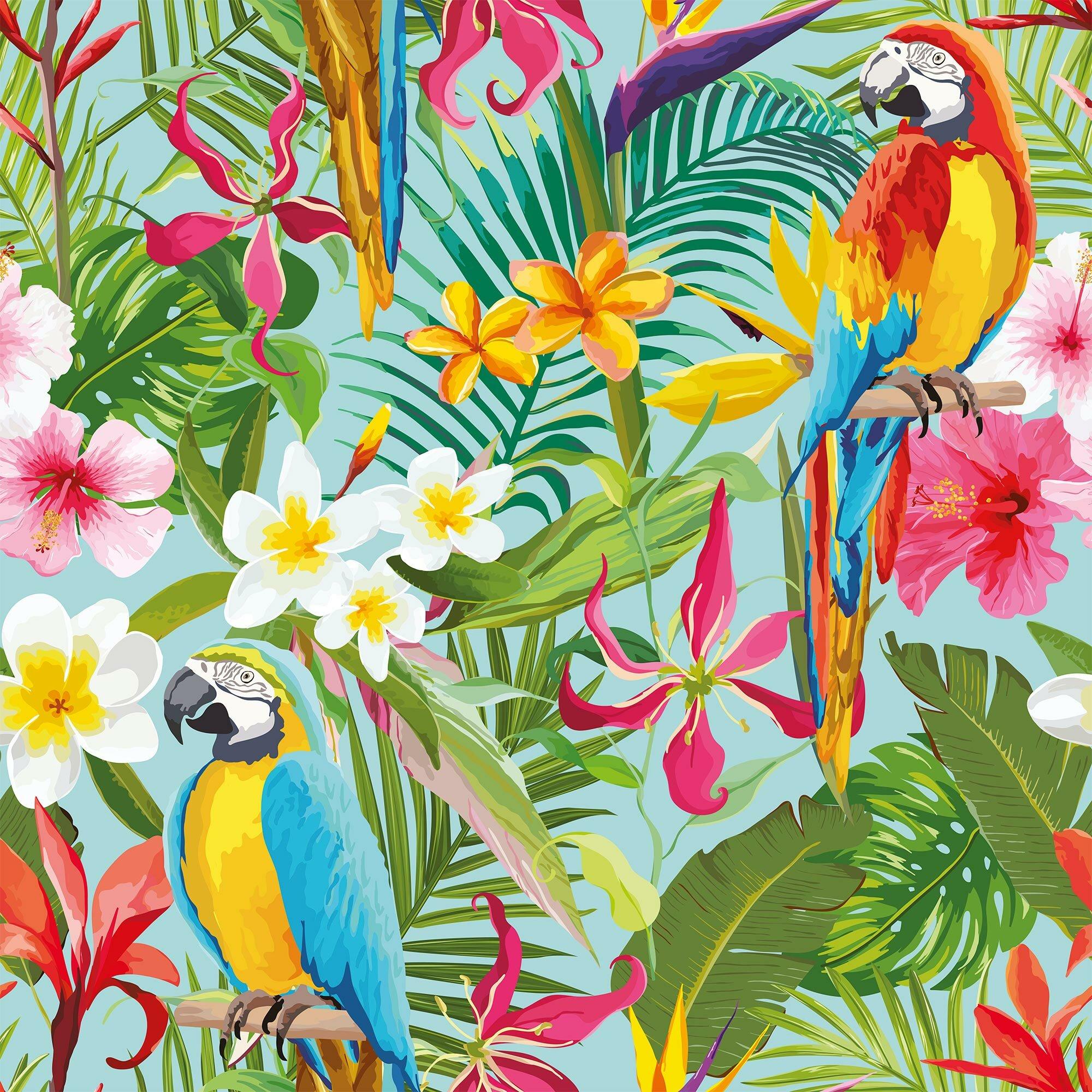Bay Isle Home Mayer Tropical Removable Peel And Stick Wallpaper Panel Wayfair