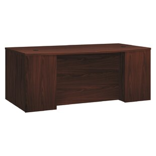 Foundation Breakfront Bow Front Pinnacle Executive Desk by HON