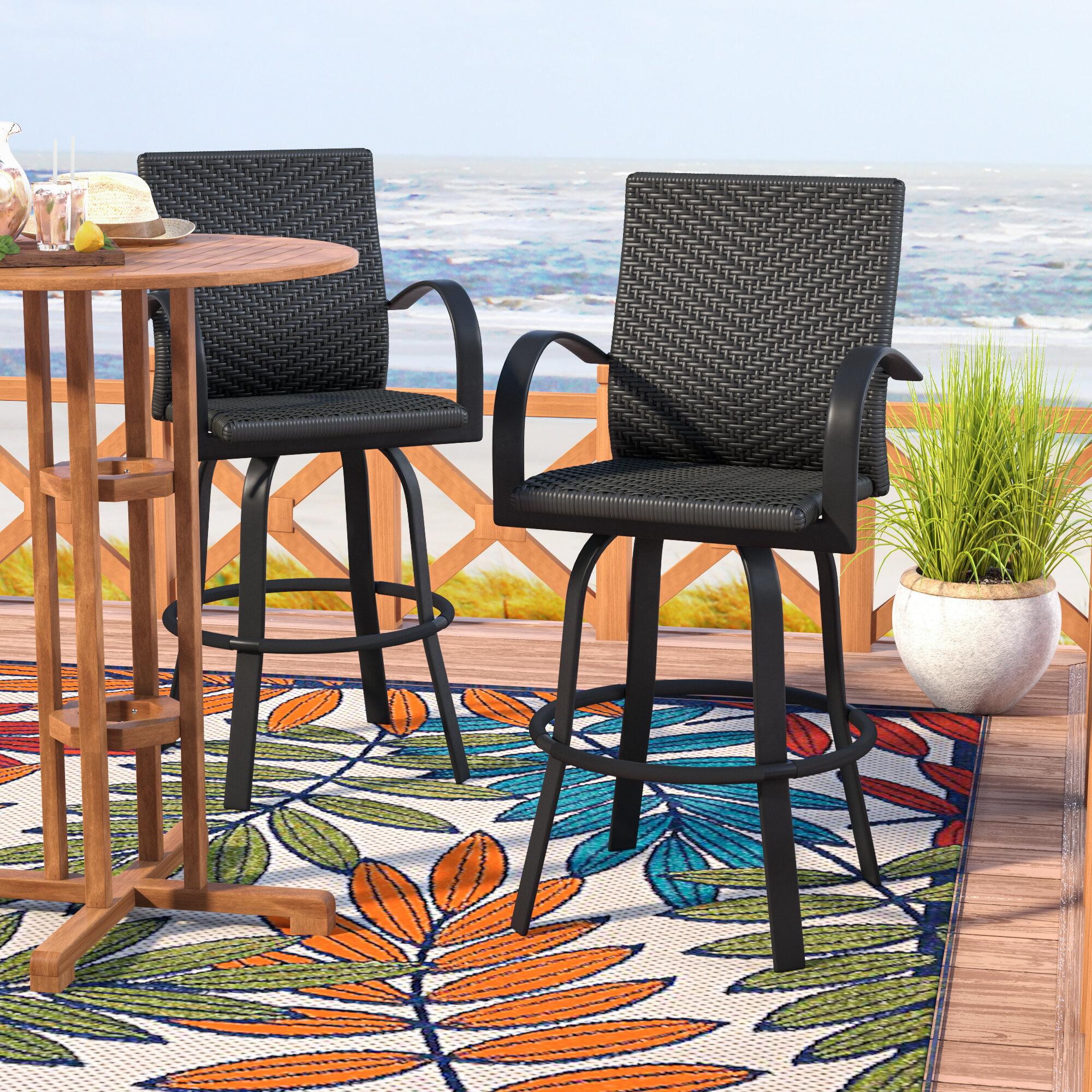 "Beachcrest Home Ellyson 29"" Patio Bar Stool & Reviews"