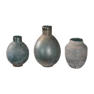 Weathered 3 Piece Table Vase Set