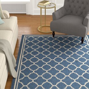 Critchlow Navy Blue Indoor/Outdoor Area Rug