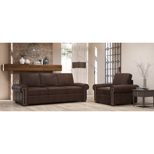 Burke 2 Piece Leather Living Room Set By Westland And Birch
